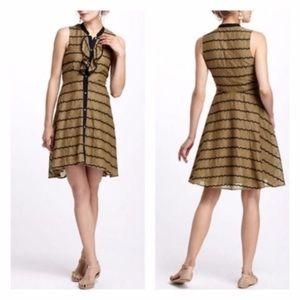 Anthro Postmark Olive Green Dress